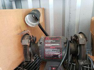Photo Craftsman 319.190400 1/3 hp Double Wheel 6 Bench Grinder w/ Guard & Lamp Light
