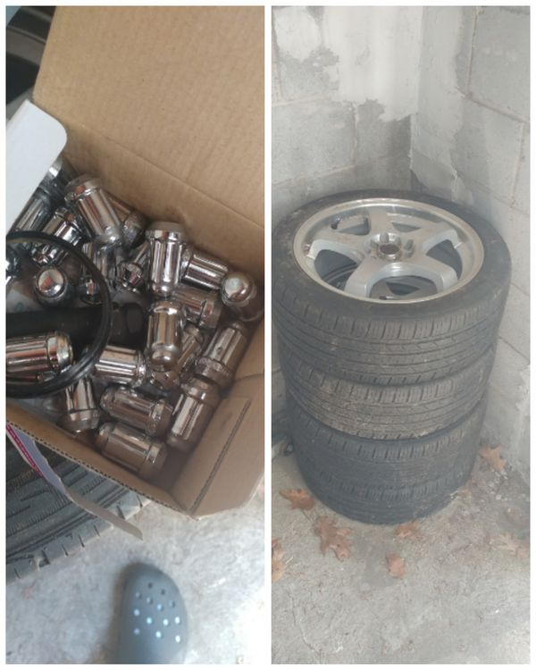 Wheels And Tires W/lock Lugs And Key For Sale In Bethlehem
