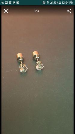 Orange LED Earring Studs Thumbnail