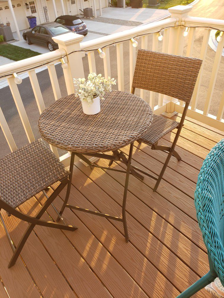 Wicker Bistro Set