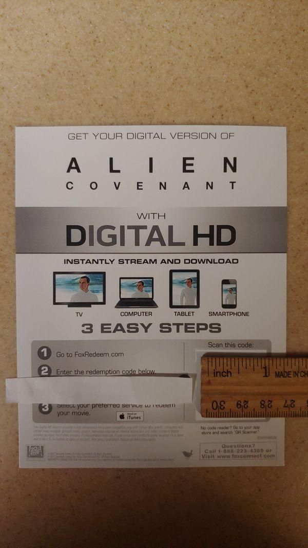 Alien Covenant 4K UHD Digital Code for Sale in Dallas, OR - OfferUp