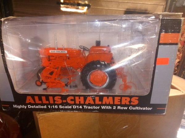 ALLIS-CHALMERS D14 collectable Tractor 1:16 scale with 2 row cultivator for  Sale in Indianapolis, IN - OfferUp