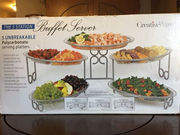 Creativeware 5 Station Unbreakable Polycarbonate Buffet