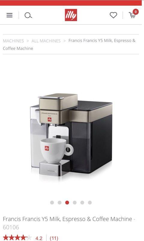 Illy Francis Francis Y5 Milk, Espresso & Coffee Machine (Appliances ...