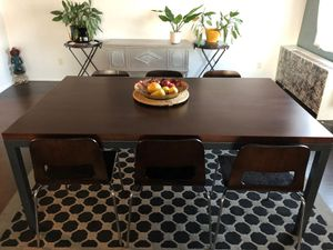 Solid cherrywood table with 4 chair for Sale in Rockville, MD