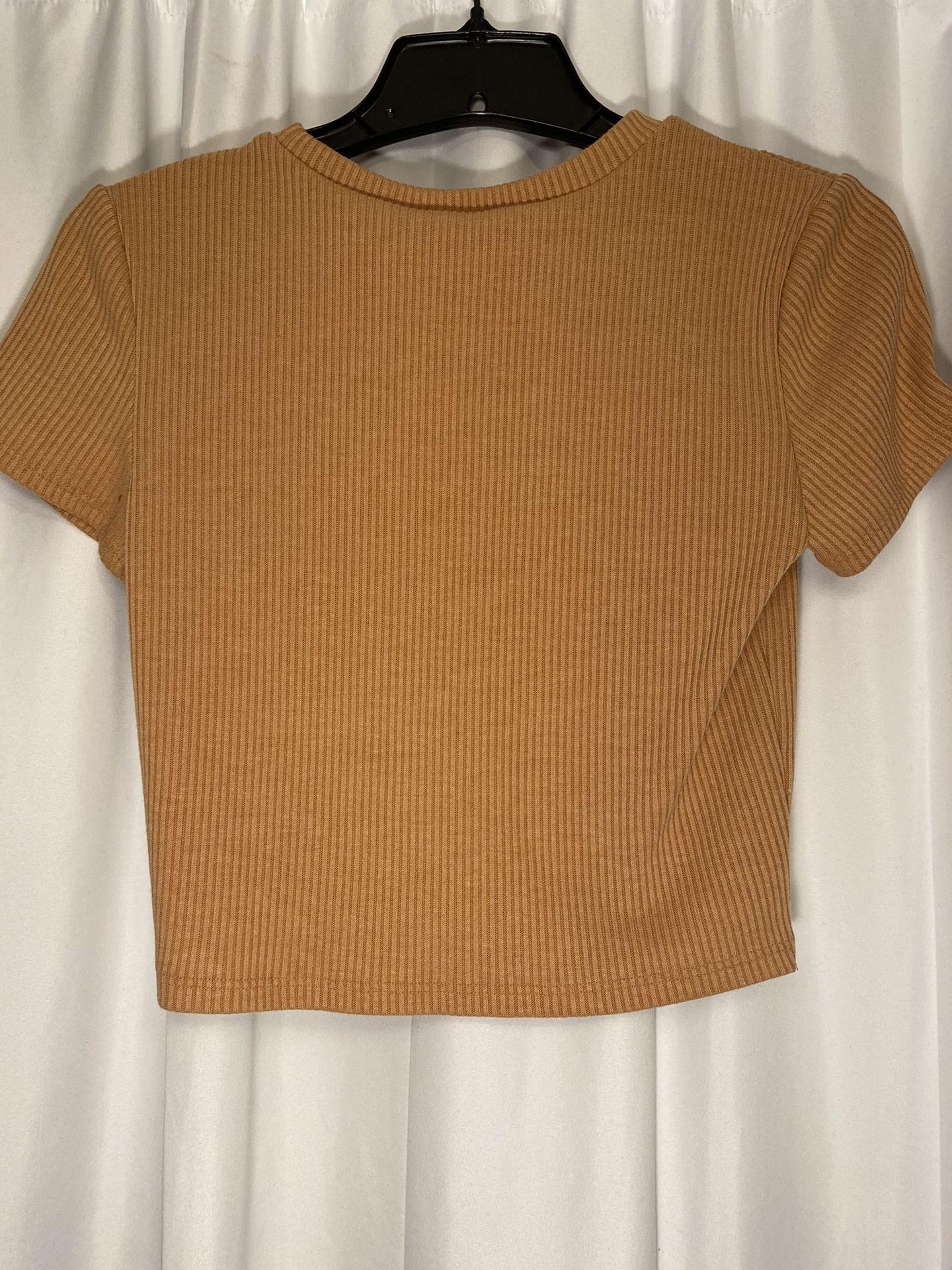 Peachy Short-Sleeved Crop Top