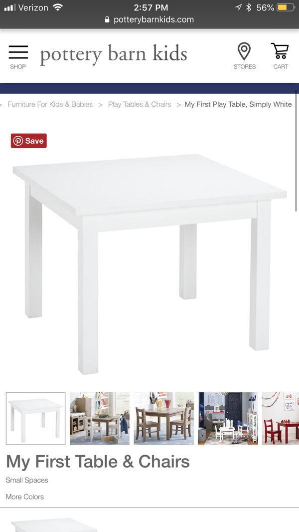Fantastic Pottery Barn Kids White Table For Sale In Goodyear Az Offerup Spiritservingveterans Wood Chair Design Ideas Spiritservingveteransorg