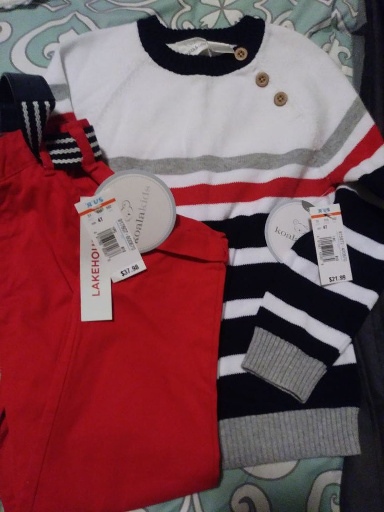 Boys 4T outfit NEW