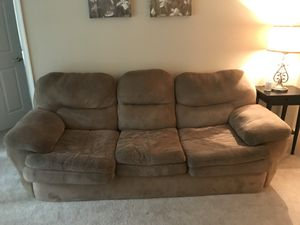 Large brown couch for Sale in Arlington, VA