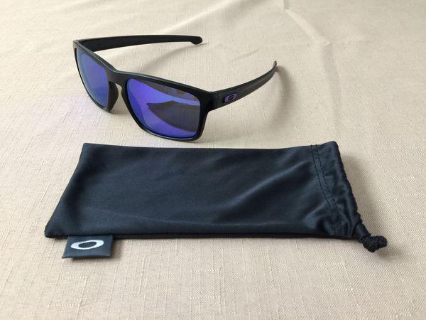 8ac61c998a NEW OAKLEY SLIVER  9262-10 - Matte Black Frame Violet Iridium Polarized Lens