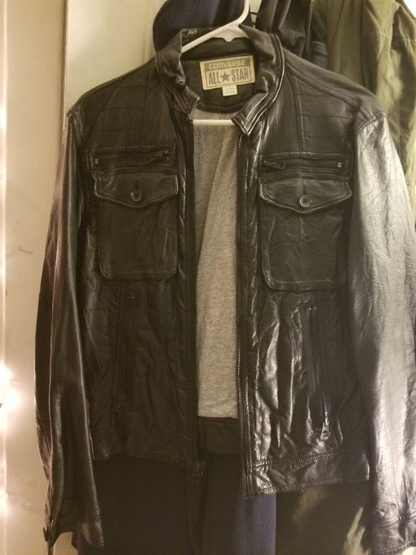 121da188176c Converse Leather Jacket for Sale in Alameda