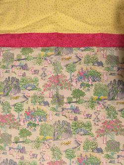 Handmade pillow case Easter bunny scene Thumbnail