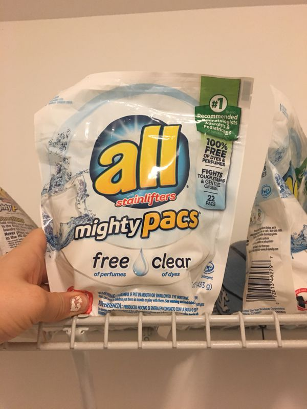 5 packs of All free & clear pods for Sale in Gastonia, NC - OfferUp