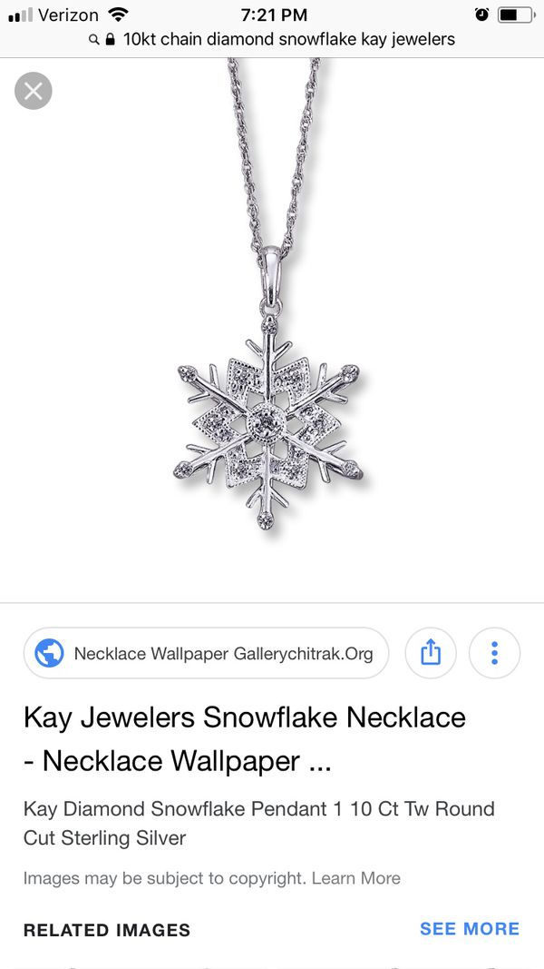 Kay Jewelers Snowflake Necklace for Sale in Clemmons, NC - OfferUp