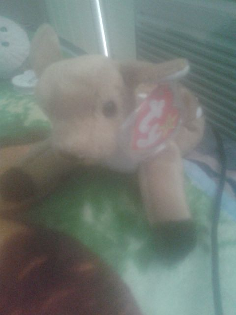 8ab71ba6b24 WHISPER The FAWN Ty Beanie Babies Stuff Animal w P.E. Pellets ...
