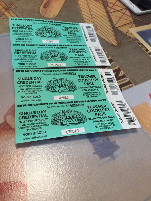 Del Mar Fairgrounds Tickets for Sale in La Mesa, CA - OfferUp