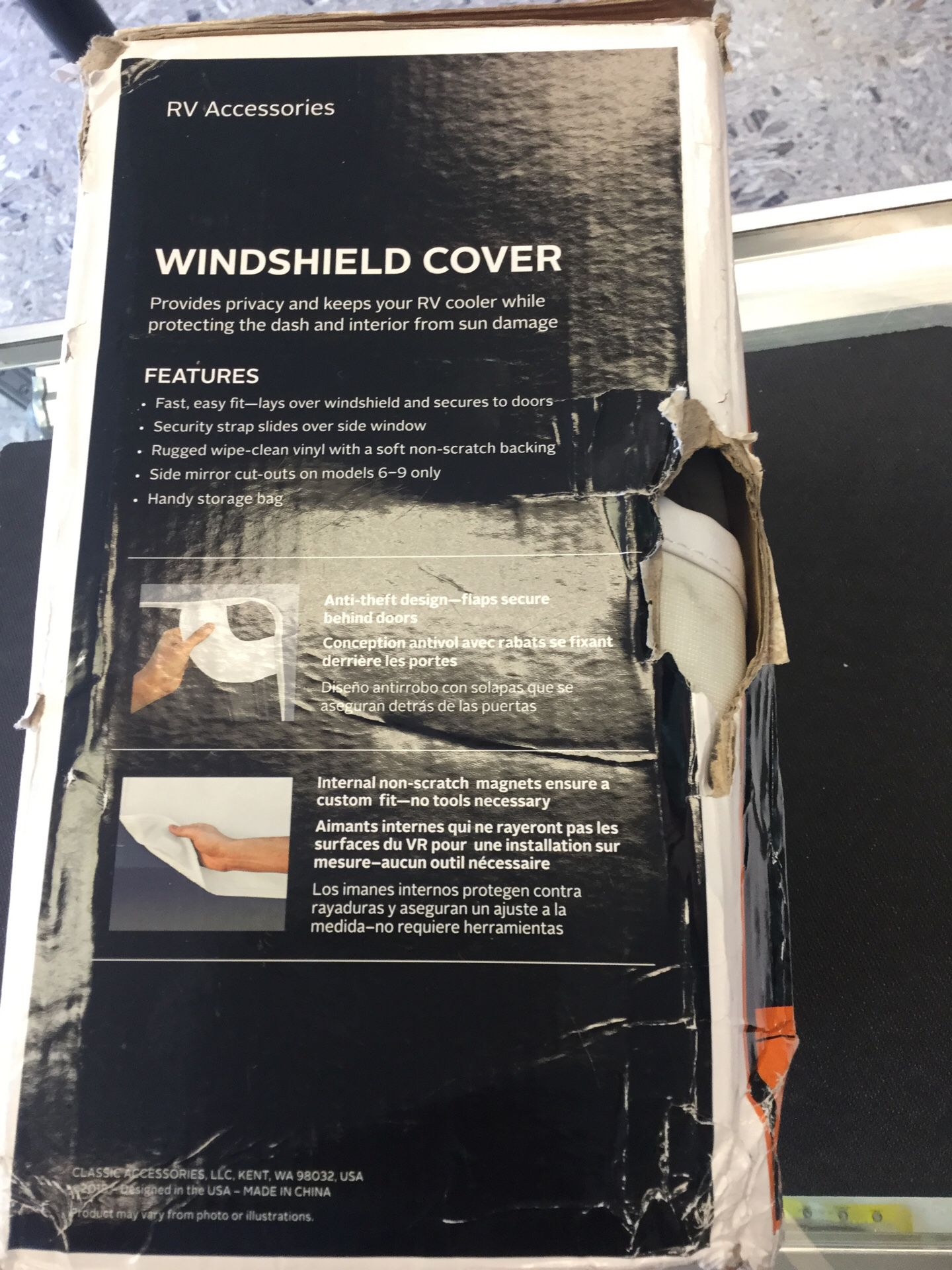 RV Accessories Windshield Cover