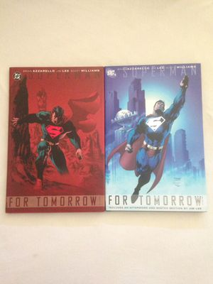 """Dc Comics Superman Hardcover Comics """"For Tomorrow"""" Like New Both For $10 for Sale in Reedley, CA"""