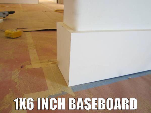 MDF 1x6 Baseboards, primed in white for Sale in Miami, FL - OfferUp