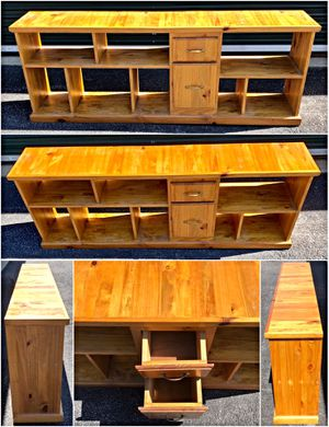 Handmade Knotty Pine Bookshelf with Storage Drawers for Sale in Windsor Mill, MD