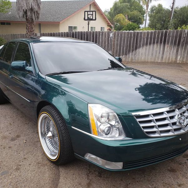 Cadillac Dts On 17 Wire Wheels On Vogues For Sale In Vista