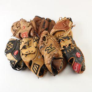 7 Used Baseball Gloves - assorted position gloves for Sale in Leesburg, VA