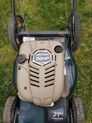 Photo I have for sale this 22 inch blade lawn mower works very well Craftsman brand