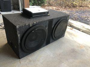 "13"" Focal subwoofers and 750 watt amp combo for Sale in Atlanta, GA"