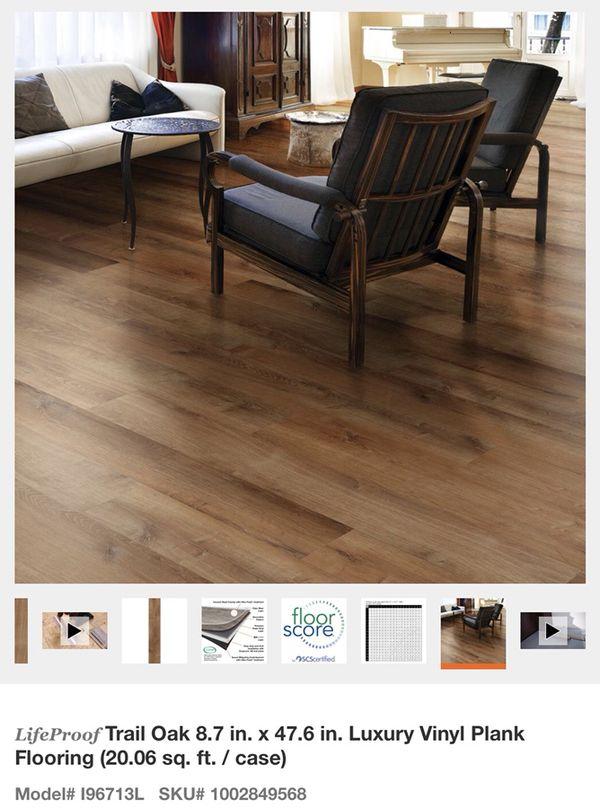 lifeproof vinyl flooring. lifeproof trail oak 8.7 in. x 47.6 luxury vinyl plank flooring for sale in glendale, az - offerup lifeproof t