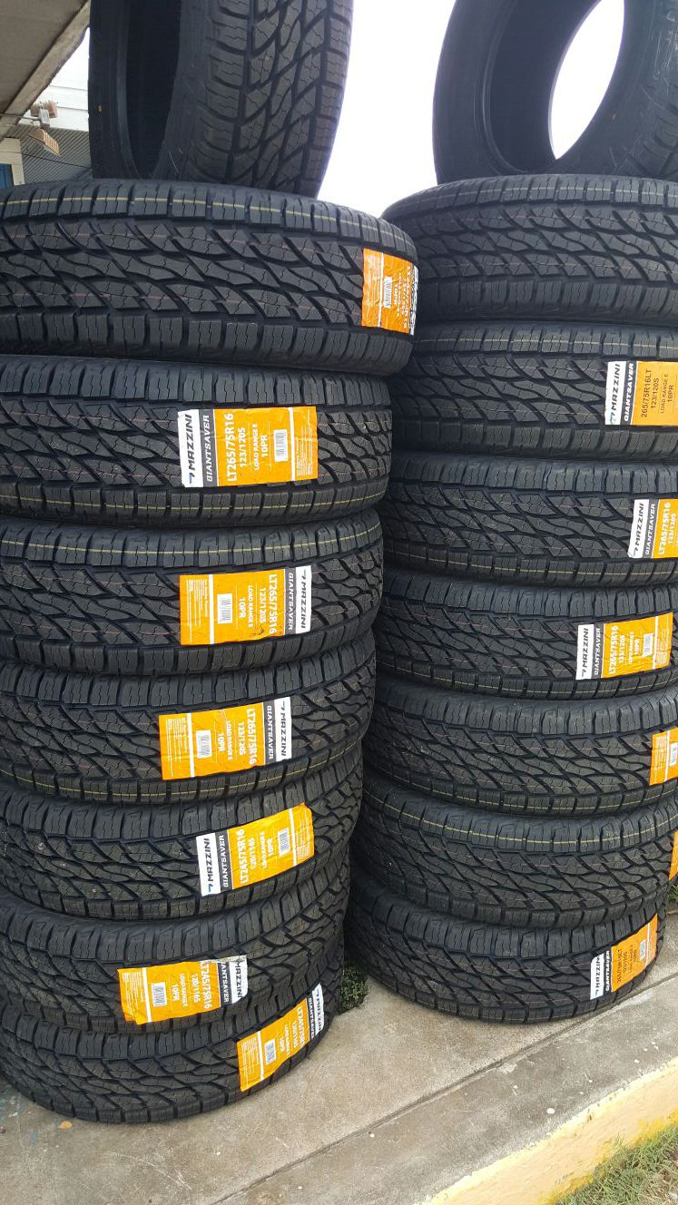 265/75/16LT NEW TIRES FOR 460 DOLLARS WITH EVERYTHING INCLUDED TAX INCLUDED