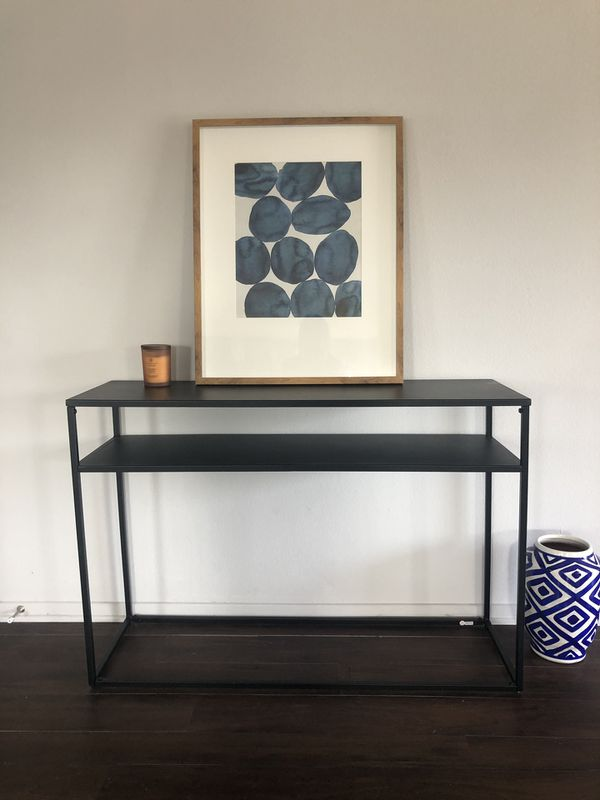 Target Glasgow Black Metal Console Table For Sale In Costa Mesa