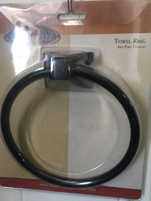 Photo Towel ring oil rubbed bronze