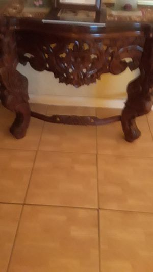 2 antique chairs with table for Sale in Miami, FL