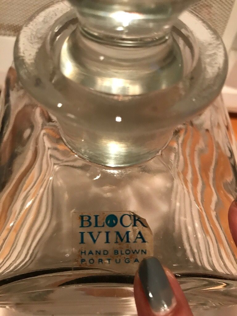 Crystal 24% lead decanter made in Poland
