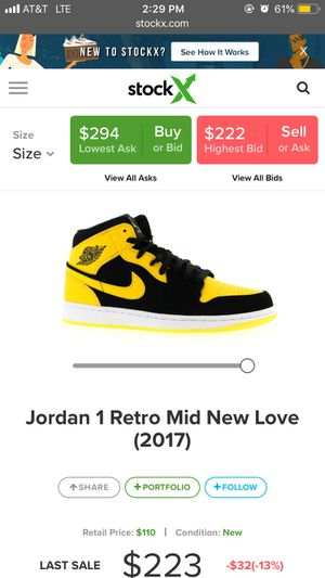 "Jordan 1 ""New Love"" size 11 $175 OBO for Sale in Highlands Ranch, CO"