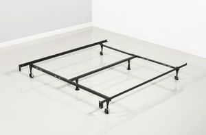 Brand New King Size Metal Bed Frame on Wheels for Sale in Silver Spring, MD
