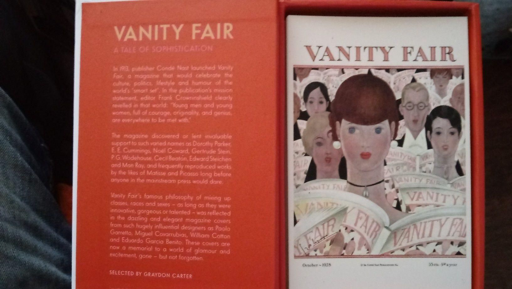 Vanity Fair vintage post card covers