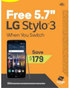 LG Stylo 3 FREE when you switch for Sale in Altamonte Springs, FL