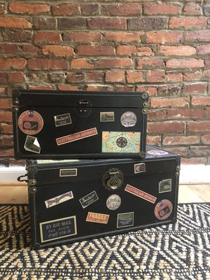 Vintage style travel storage chests for Sale in Washington, DC
