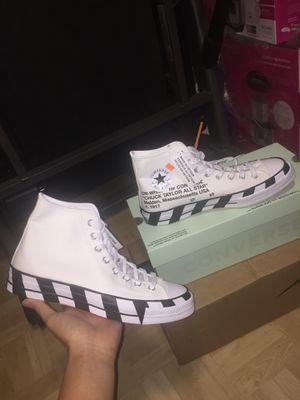 Off white converse Size 9.5 for Sale in Fairfax, VA