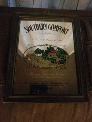 Photo Vintage Southern Comfort Mirror