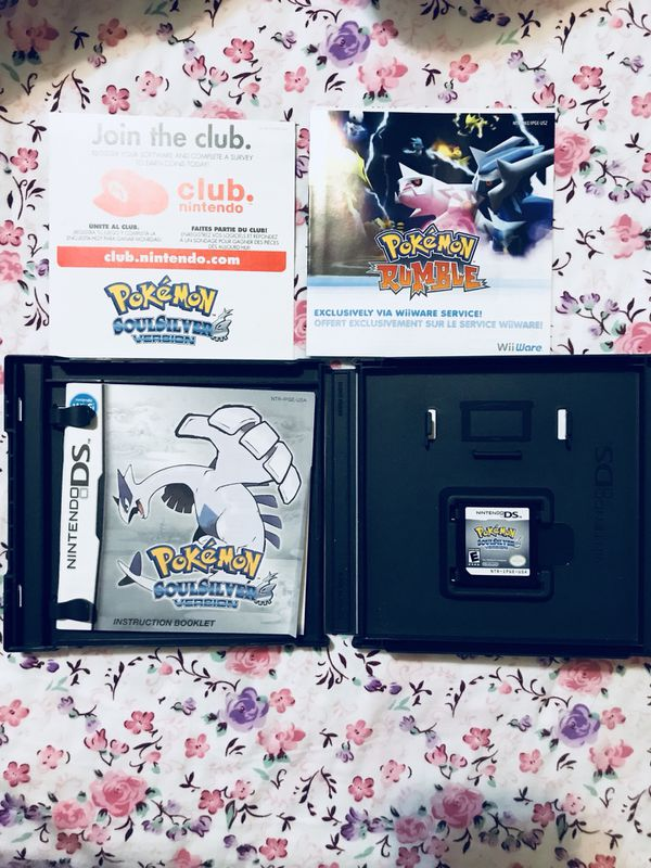 AUTHENTIC POKÉMON SOULSILVER DS GAME WITH CASE / MANUALS for Sale in  Queens, NY - OfferUp