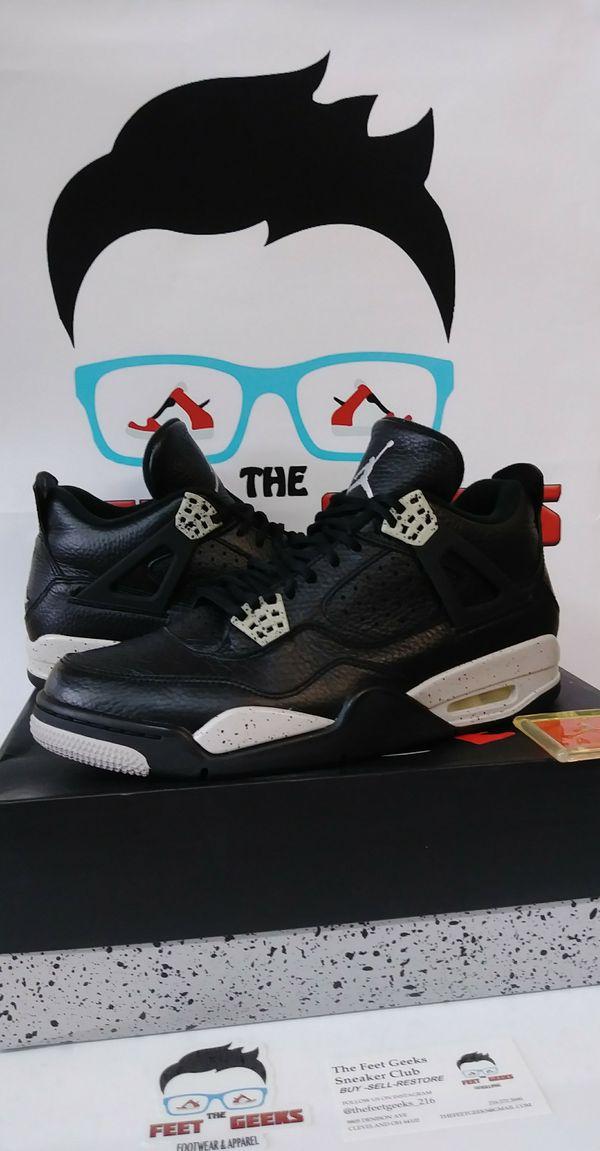 newest 6e29c 73bb7 Air Jordan 4 Retro Oreo Mens Shoes Size 11 VNDS W  BOX  180