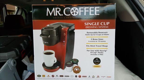 Brand New Mr Coffee Single Brew System K Cup Compatible Household