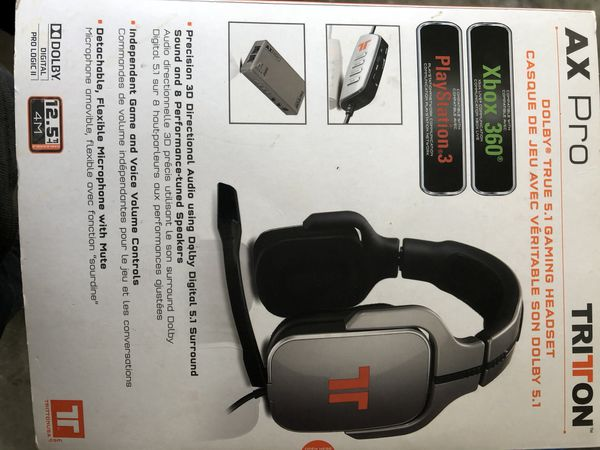 69a49cfea3c Tritton Ax Pro Dolby 5.1 surround sound immersive headphones with mic
