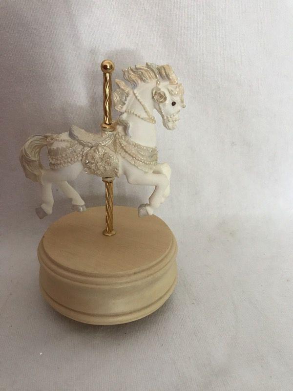 Vintage Porcelain Carousel Horse Music Box San Francisco Music
