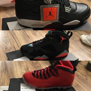 Photo Nike air Jordan's Jordan deadstock with receipts foamposites lebron sb dunks de la soul new in box Jordan 4