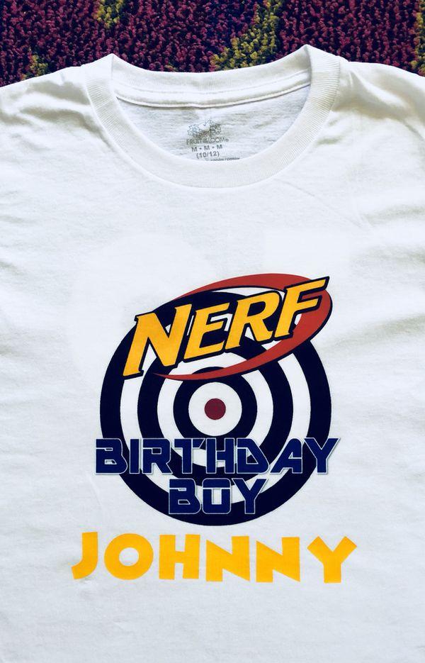 Nerf Birthday Boy Shirt