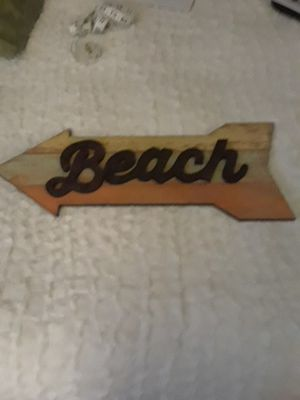 Beach Sign 20 inches wide for Sale in Frederick, MD