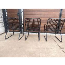 Set of three brown Jordan outdoor patio chairs vantage Thumbnail